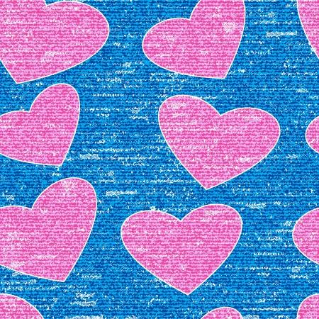 Pink grunge heart symbol, seamless background Stock Vector - 17986904