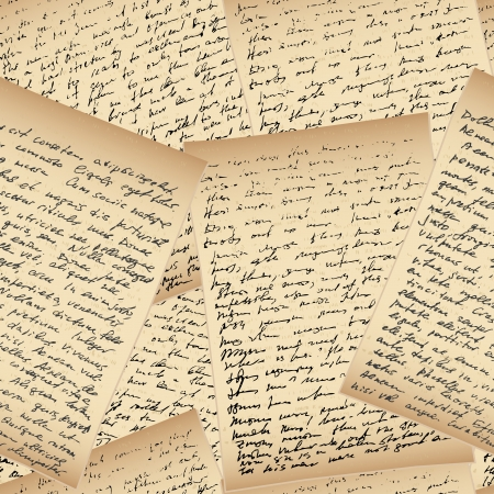 handwriting: Old vintage handwriting letter, seamless background
