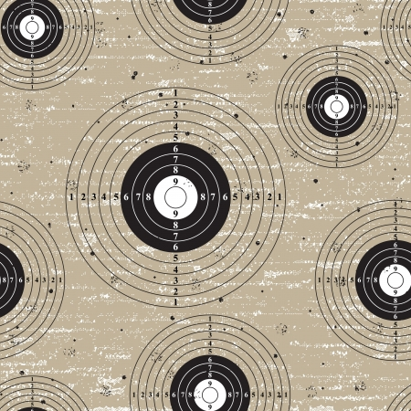 Target over retro vintage grunge seamless background  Vector