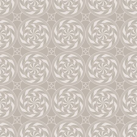 Retro vintage decorative seamless background with circle, line and swirl Stock Vector - 18344186
