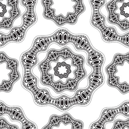 Abstract doodle black and white seamless pattern Stock Vector - 18344324
