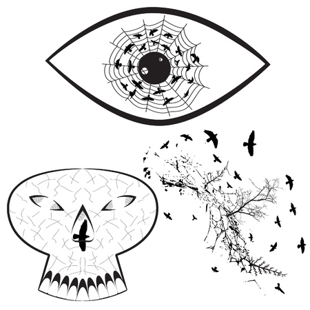 Set of Halloween Graphic Elements  Vector