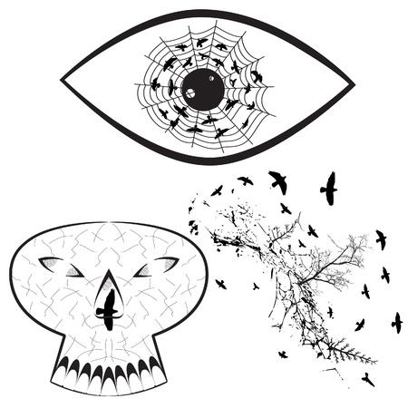 Set of Halloween Graphic Elements Stock Vector - 18344166