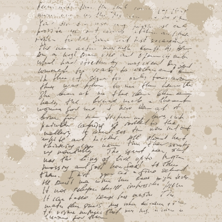 Abstract old grunge vintage hand write, seamless background