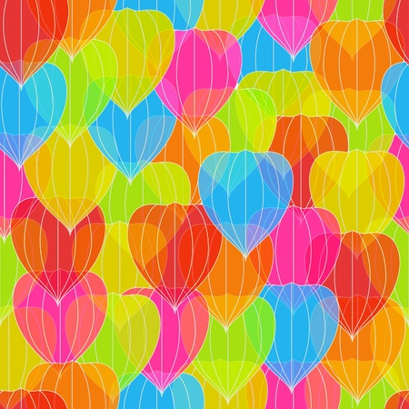 Colorful Physalis, seamless background Stock Vector - 18344170