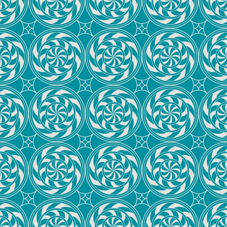 Retro vintage decorative seamless background with circle, line and swirl Stock Vector - 18761608