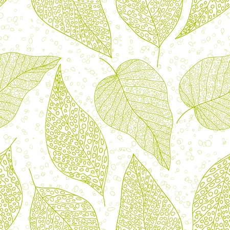Green leaf, seamless background Vector