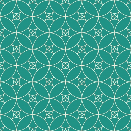 Retro vintage decorative seamless background with circle, line and swirl Vector