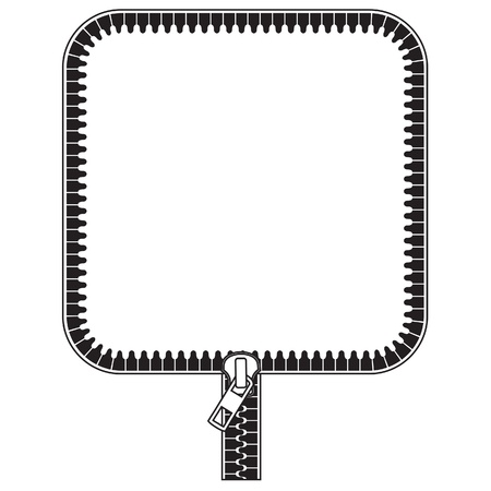 Frame stylized as a zipper, square version with round corner Stock Vector - 20322231