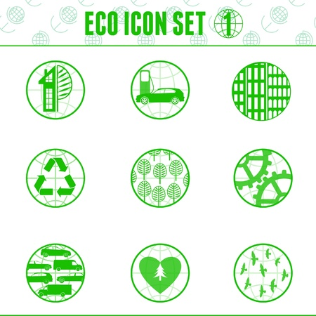 Eco icon and infographic element.