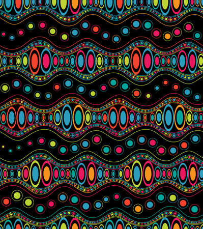 Ethnic color doodle, seamless pattern Stock Vector - 21726978