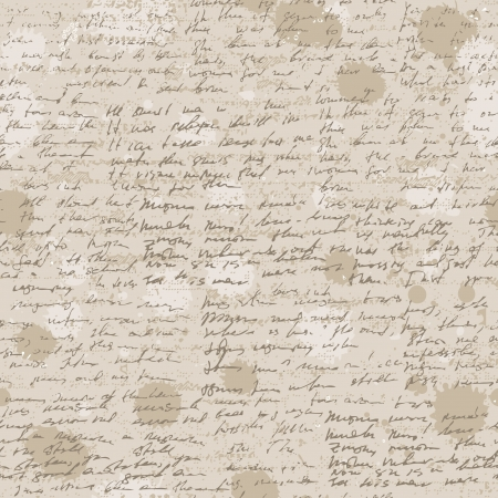 Abstract old grunge vintage background with hand write. Vector