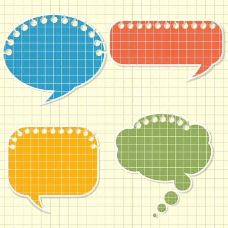 Speech bubbles stylized as a torn lined paper Stock Vector - 21726999