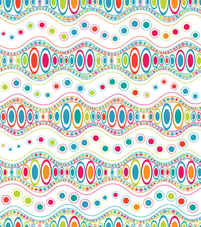 Ethnic color doodle, seamless pattern Vector