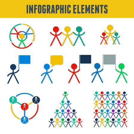 gender identity: Communication icon, infographic with man, people symbol Illustration