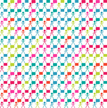 Seamless background with man, people, crowd symbol Vector