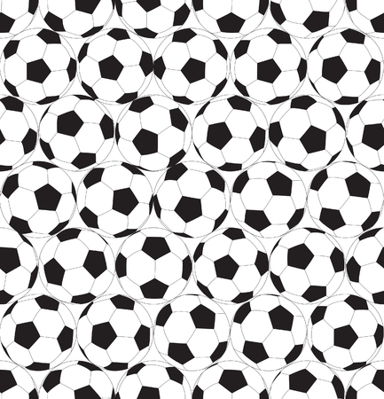 Black and white seamless background with soccer ball.