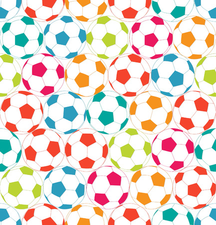 Seamless background with colorful soccer ball.