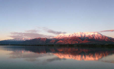 Utah Lake at sunset. Stock Photo - 1859906
