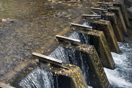 hobble: A manmade waterfall in Hobble Creek Canyon, Utah.