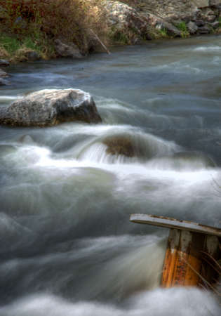 Provo River flowing spedily along with a spool in the . Stock fotó