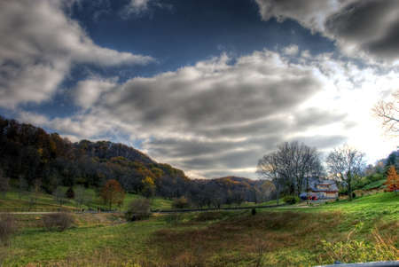 backwoods: A HDR shot of the Tennessee countryside in around Thanksgiving time.