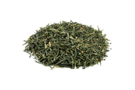 sencha tea: Sencha, bio green tea from Japan isolated on white