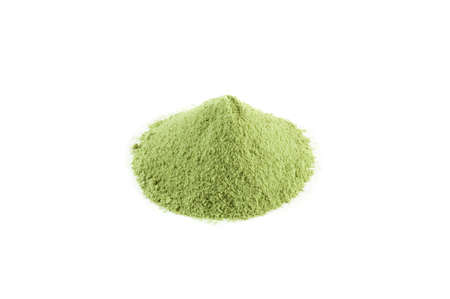 dry powder: Matcha green tea, japanese fine powder green tea Stock Photo
