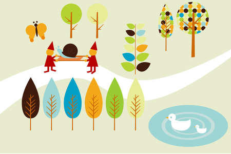 Dwarf and Forest illustration