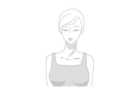 torso: woman torso Illustration