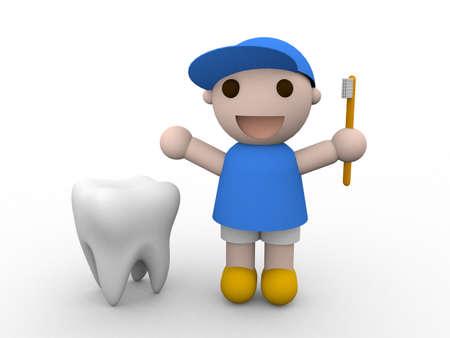 fluorine: Teeth and child Stock Photo