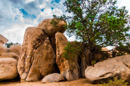 Big rock sculptures in the Joshua National Park in California