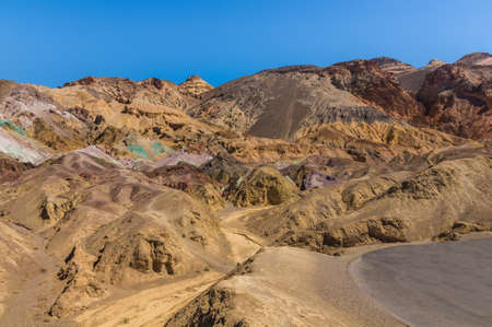 western usa: Artists Palette in Death Valley National Park, California - Picture made on a motorcycle road trip through western USA
