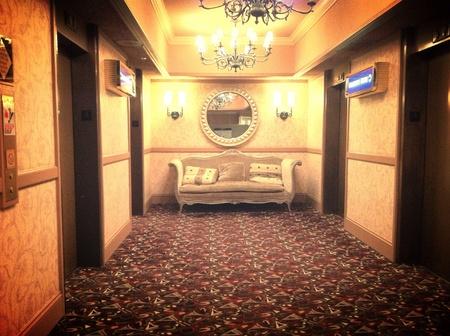 Elevator lobby Reno NV Casino. Classy. Stock Photo