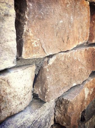 Stone facade close up. Фото со стока