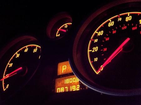 mpg: Car dashboard glow.