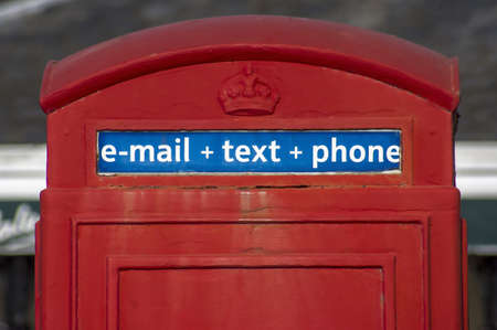 anglo saxon: three contemporary words on the traditional British phone booth