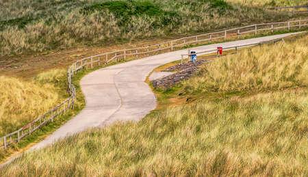 winding road somewhere in England Cornwall Stock fotó