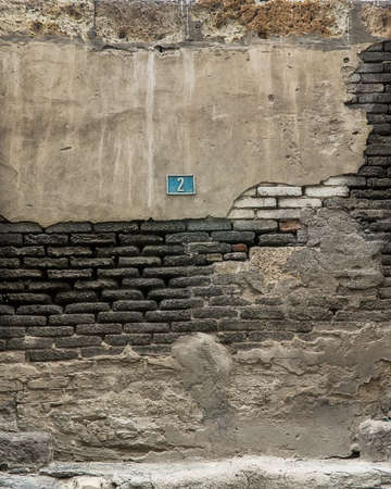 the ageing process: Fragment of old wall.