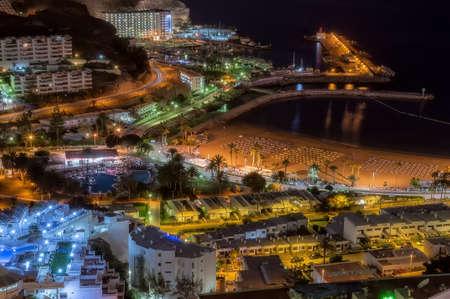 rico: Puero Rico on Gran Canaria by night.