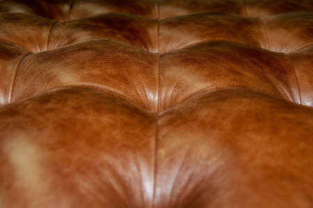 upholstery: Quilted leather upholstery buttons.