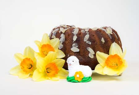 pasen schaap: De decoratie van Pasen. Stockfoto