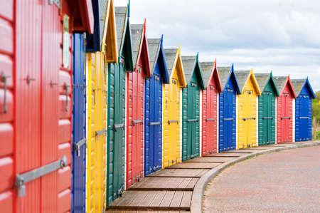 succession: Beach huts.