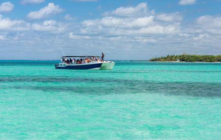 Saona island on the Caribbean sea in the Dominican Republic. Stock Photo