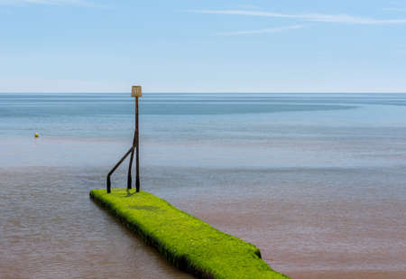 Fragment of the waterfront in Sidmouth in Devon in southern England. Stock Photo