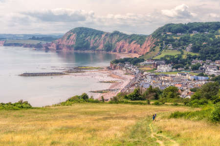 Beach in Sidmouth, Devon, South of England. Stock Photo