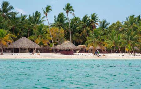 Beach on the Caribbean island of Saona in Dominican Republic.