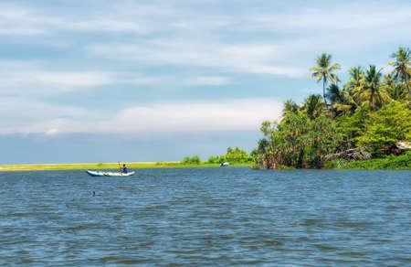 Dutch canal in Negombo,Sri Lanka.