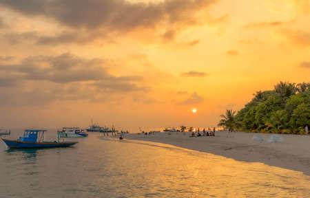 Sunset on the Maldivian island of Fulidhoo.