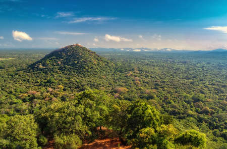 A mountain in the neighborhood of Sigiriya in Sri Lanka. Stok Fotoğraf